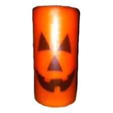 Jack-O'-Lantern Graphic Pillar Candle