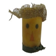 Scarecrow Pillar Candle