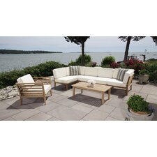 Bali Teak 5 Piece Sectional Set with Cushions