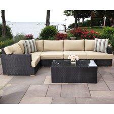 Salina 5 Piece Sectional Set with Cushions
