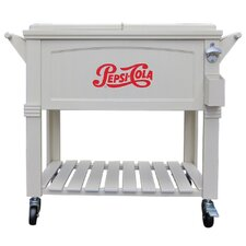 80 Qt. Pepsi Antique Patio Rolling Cooler
