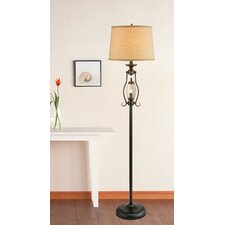"Metal and Glass 61"" Floor Lamp"