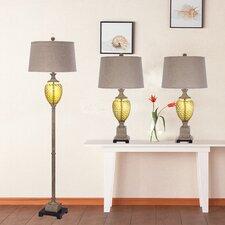Martin Richard 3 Piece Table and Floor Lamp Set