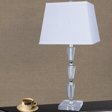"""Crystal and Metal 27.5"""" H Table Lamp"""