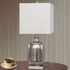 """Glass and Metal 22"""" H Table Lamp"""