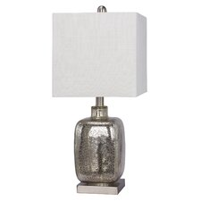 "Glass and Metal 22"" H Table Lamp"