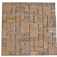 Random Sized Copper Mosaic Tile in Brown
