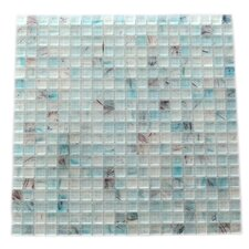 "Amber 0.63"" x 0.63"" Glass Mosaic Tile in Sky Blue"