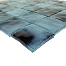 """Watermarks 2"""" x 2"""" Glass Mosaic Tile in Sky Blue"""