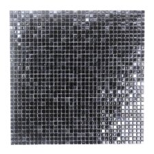 "Galaxy Straight 0.31"" x 0.31"" Glass Mosaic Tile in Dark Gray"