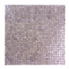 "Galaxy Straight 0.31"" x 0.31"" Glass Mosaic Tile in Light Purple"