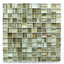 "Handicraft 1"" x 1"" Glass Mosaic Tile in Brown/Green/Beige"