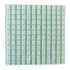 "Metro 1"" x 1"" Glass Mosaic Tile in Arctic"