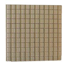 "Metro 1"" x 1"" Glass Mosaic Tile in Light Brown"