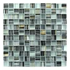 "Handicraft 1"" x 1"" Glass Mosaic Tile in Black Gold"