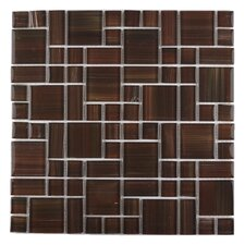 Handicraft II Random Sized Glass Mosaic Tile in Chocolate