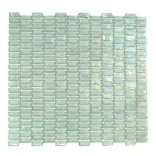 "Classic Recycled 12.81"" x 12.31"" Glass Mosaic Tile in Mint"
