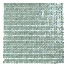 """Classic Recycled 12.88"""" x 12.88"""" Glass Mosaic Tile in Blue Gray"""