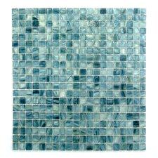 """Honey Berries 0.63"""" x 0.63"""" Glass Mosaic Tile in Blue Pearl Ocean"""