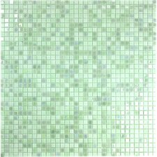 """Galaxy Straight 0.31"""" x 0.31"""" Glass Mosaic Tile in Green"""