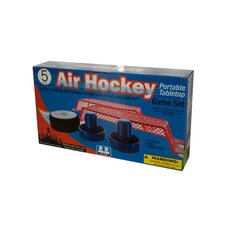 Portable Battery Operated Tabletop Air Hockey Game Set