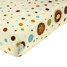 Jungle Tales Polka Dot Toddler Crib Sheet