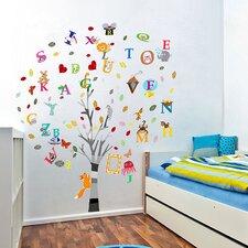Wandsticker für Kinderzimmer Alphabet, Tiere und Baum