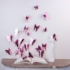 3D Butterflies Wall Sticker Rose Gold