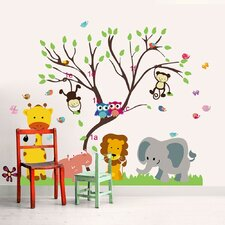 Wandsticker Monkey Animal Forest Tree