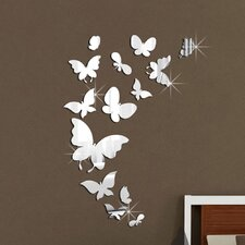 Mirror Butterflies Wall Sticker