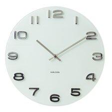 "Karlsson 15"" Vintage Glass Wall Clock"