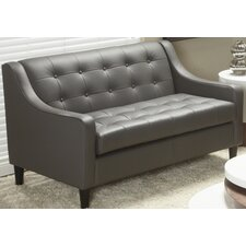 Cameo Collection Top Grain Leather Love Seat