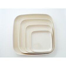 Eco Bamboo 4 Piece Dinner/Serving Plate Set