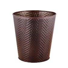 3-Gal. Chevron Round Metal Wastebasket
