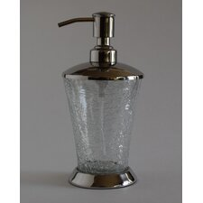 Classic Hand Crafted Crackle Glass Soap Pump