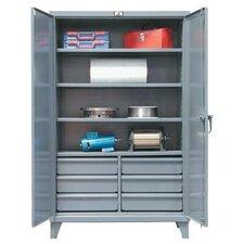 """78""""H x 60""""W x 24""""D 2 Door Storage Cabinet"""