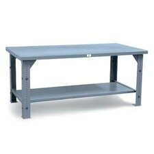Adjustable Height Shop Table