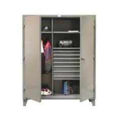 """66""""H x 48""""W x 24""""D 2 Door Storage Cabinet"""
