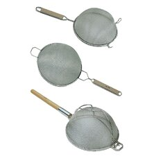 Double Mesh Stainless Steel Strainer