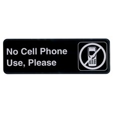 Self Adhesive No Cell Phone Use Please Sign