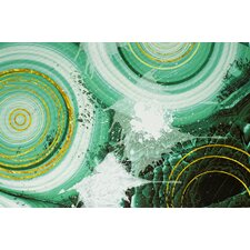 'Green Circles' Graphic Art on Canvas