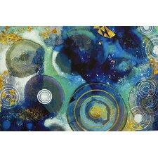 'Blue Circles' Graphic Art on Canvas