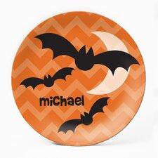 "Batty 10"" Personalized Plate (Set of 4)"