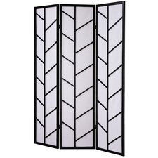 "71"" x 51"" Climbing Screen 3 Panel Room Divider"
