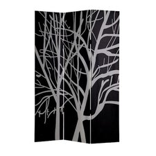 "71"" x 53""  Double Sided Painting Canvas 3 Panel Room Divider"