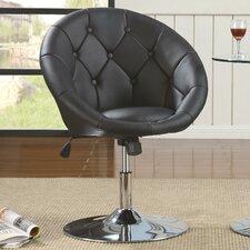Noas Contemporary Tufted Back Tilt Swivel Barrel Chair