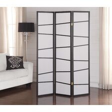 "71"" x 51"" Screen 3 Panel Room Divider"