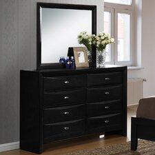 Blemerey 8 Drawer Dresser with Mirror