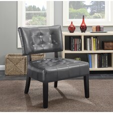Anjotiya Faux Leather Tufted Chair