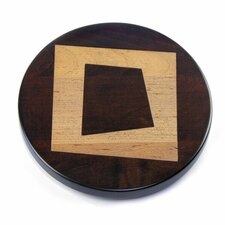 Artisan Woods Abstract Square Lazy Susan